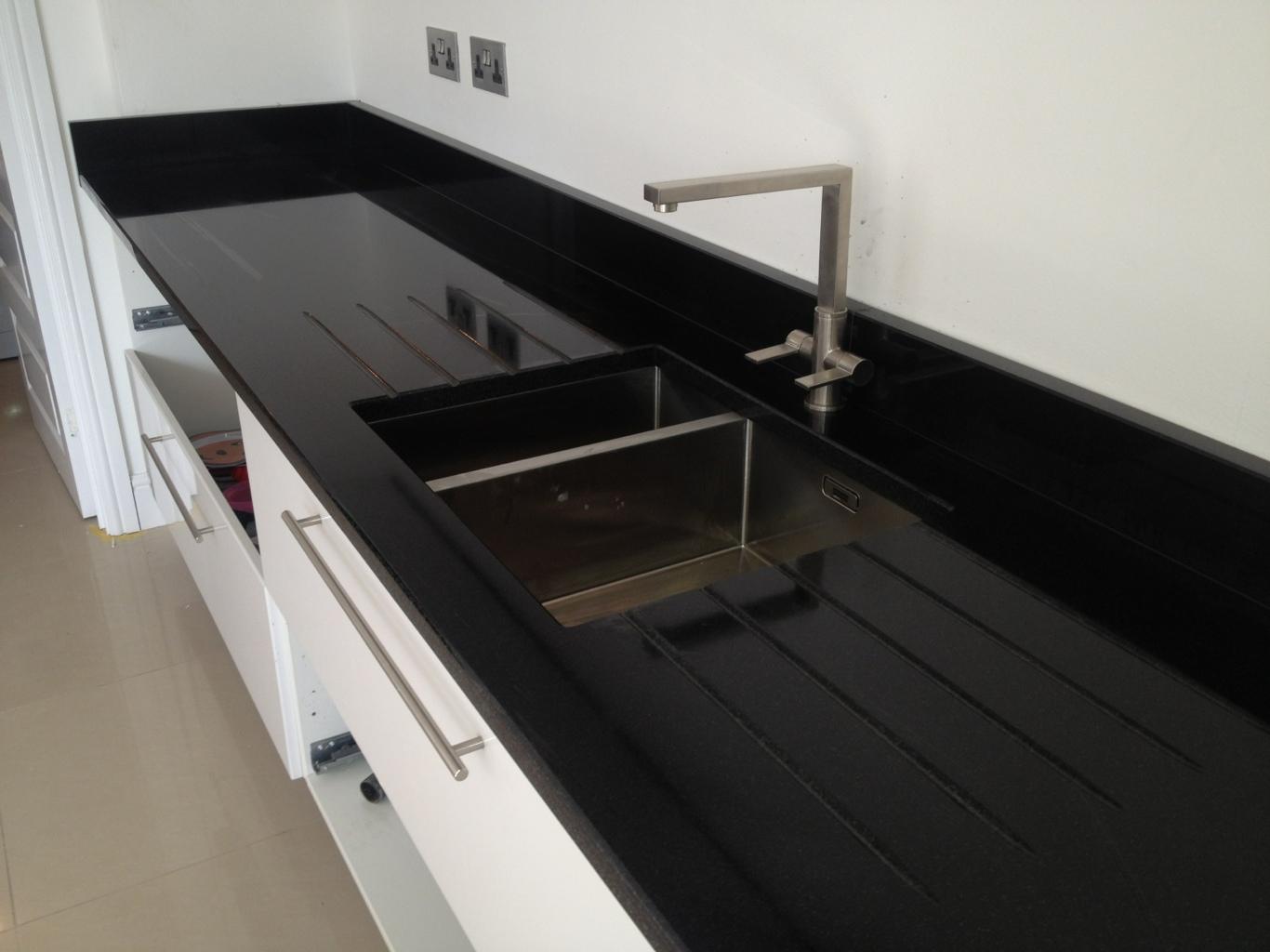 Franke Sinks Black Granite : franke peak pkx160 sink with a franke bern tap draining grooves both ...