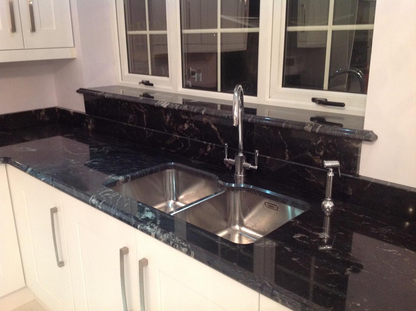 Angola Black Granite Kitchen