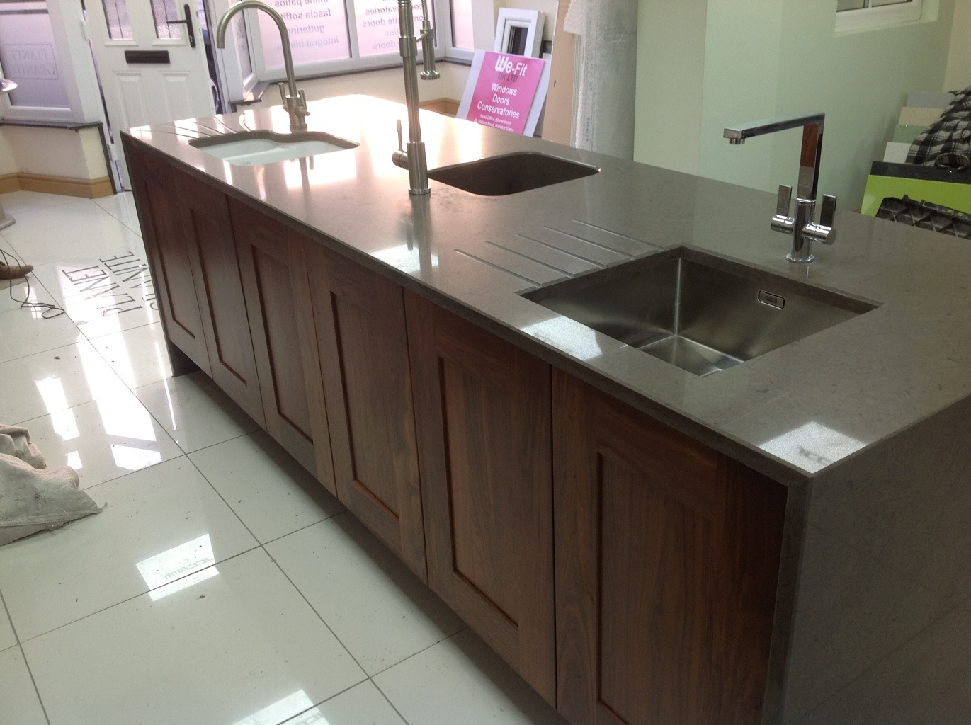Silestone integrity sink with recess drainer - 20130306 082315 Jpg