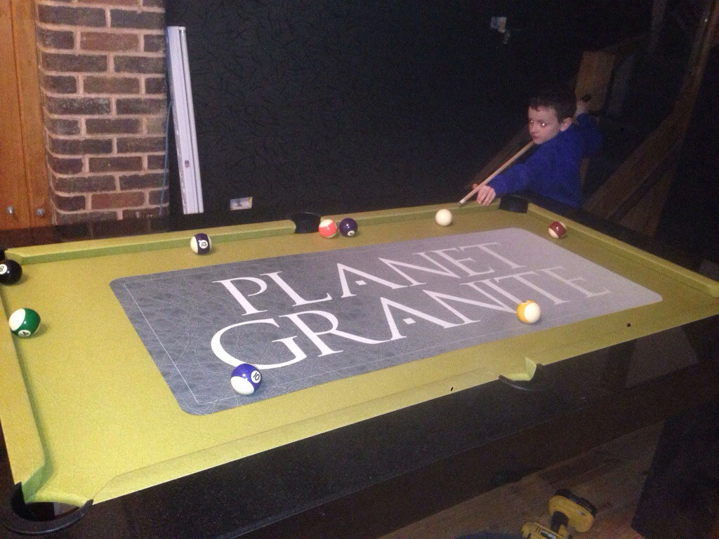 Playing a game on the finished table