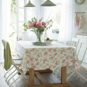floral table cloth